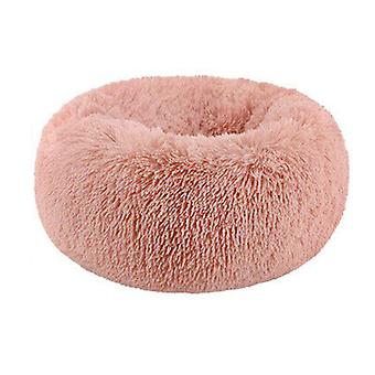 Washable Calming Comfy Donut Style Plush Pet Cat Or Dog Bed