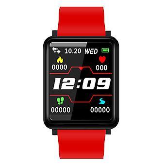 Pulsera de actividad F1 con 1.44 pulgadas de color pantalla roja