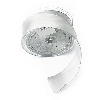 38mm Shimmering Silver Sheer Premium Wire Edged Ribbon -15m