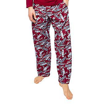 Cyberjammies Liam 6516 Men's Burgundy Mix Skateboard Print Pyjama Pant