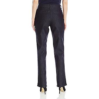 LEE Women's Relaxed Fit All Day Straight Leg Pant, 12 Short, Indigo Rinse