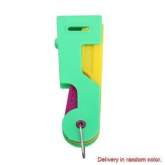 Manual automático do threader Ferramenta de costura do dispositivo de costura verde