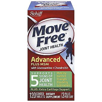 Schiff, Move Free, Advanced Plus MSM avec Glucosamine & Chondroitine, 120 Enduit