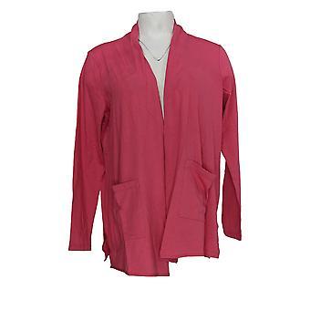 LOGO من قبل لوري غولدشتاين المرأة & ق أعلى الكارديجان المفتوحة W / جيوب الوردي A302470