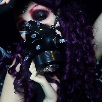 Mbm -  gas mask uv neon spikes - fashion mask with led lights