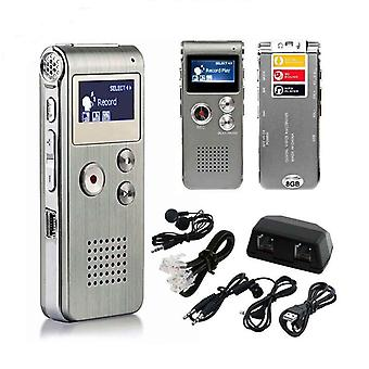 Lcd Screen 8gb Digital Sound Audio Recorder Dictaphone Mp3 Player Voice Recorder