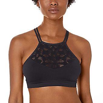 Merk - Mae Women's Seamless Hi-Neck Bralette met Floral Crochet Cut ...