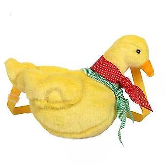 Anka med halsduk i halsdesign plysch och mjuk crossbody axel-budbärare väska