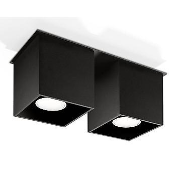 2 Lumière Suface Monté Downlight Black, GU10