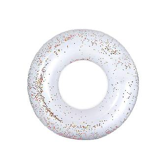 65cm Multicolor Crystal Sequin Interior Swim Ring Water Toy