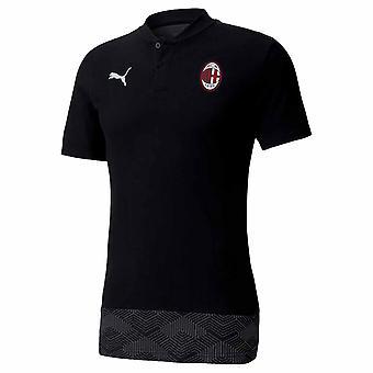 2020-2021 AC Milan Casuals Polo Shirt (Noir)