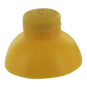 C stick for nintendo gamecube controller rubber analog replacement - yellow | zedlabz