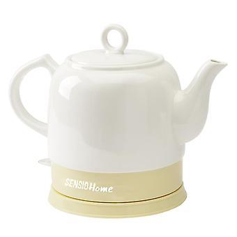 Sensio Home Bella Kettles - Electric Ceramic Cordless White Kettle Teapot Cream