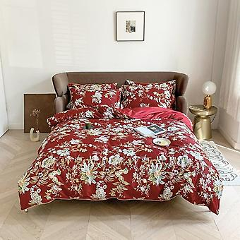 Egyptian Soft Cotton Duvet Cover Fitted/bedsheet Set - Flamingo Paisley Bedding