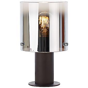 Luz BRILLIANT Beth Lámpara de Mesa Café/Vidrio Ahumado ? 1x A60, E27, 60W, g.f. lámparas normales n. ent. | Con interruptor de intercambio de cable