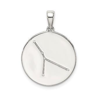 925 Sterling Silver och CZ Cubic Zirconia Simulerad Diamond Cancer Zodiac Hängande Halsband Smycken Gåvor för kvinnor
