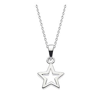 Dew Sterling Silver Chunky Star Pendant 98010HP027