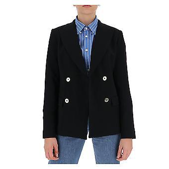 Michael von Michael Kors Mf01eznenx001 Frauen's schwarze Wolle Blazer