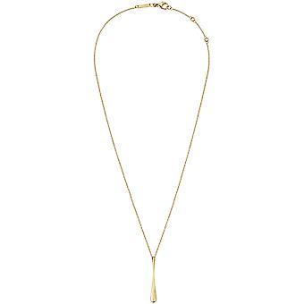 Calvin Klein Ellipse Gold Tone Adjustable Necklace KJDMJP100100