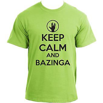 The Big Bang Theory Keep Calm and Bazinga Inspired T-Shirt