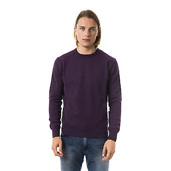 Uominitaliani Melan Violet Crew Neck Sweater