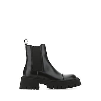 Balenciaga 641399wa8e91000 Women's Black Leather Ankle Boots