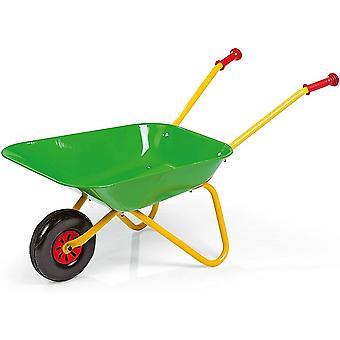 Rolly toys green metal wheelbarrow for 2.5 years old- green