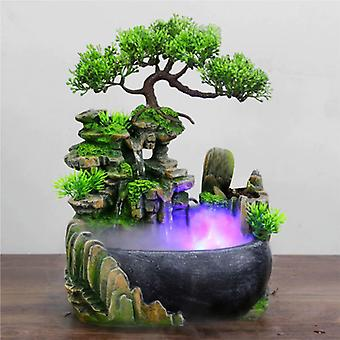 Minideal Ornamental Waterfall Feng Shui with LED Mist - LED Fountain Decor Ornament