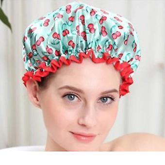 Cute Double Layer Waterproof Shower Hair Cover Thick Shower Caps