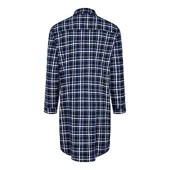 Campion Mens periat bumbac Canterbury verificate Nightshirt Sleepwear XL Blue Check