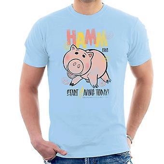 Pixar Toy Story Hamm Aloita säästäminen tänään Men's T-paita