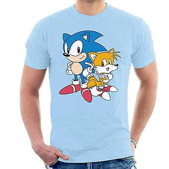 Sonic The Hedgehog And Tails Hands On Hips Men's T-Shirt
