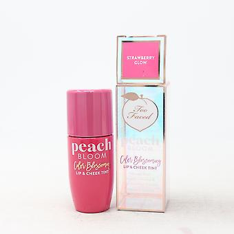 Too Faced Peach Bloom Color Blossoming Lip & Cheek Tint  0.25oz/7ml New With Box
