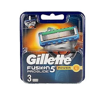 Gillette Fusion Proglide Power Cargador 3 Uds Para Hombres