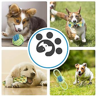 Dog Pet Toys 9 szt/ Set Cotton Ball Puppy Chew Molar Toy Teeth Clean Green Rope Durable Pleciona Lina Śmieszne narzędzie do treningu na świeżym powietrzu