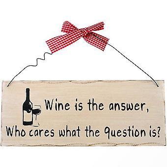 Jotain erilaista viini on ripustettu merkki vastaus