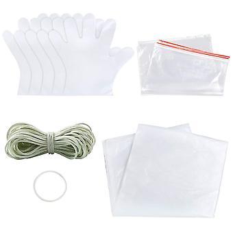 Sntieecr 68 pieces diy tie dye kit, t-shirt fabrics tie-dye kits for kids adult party group, includi