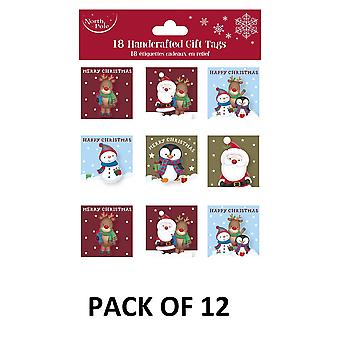 Eurowrap Christmas Cute Gift Tags (Pack of 216)
