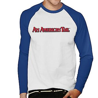 An American Tail Classic Red Text Logo Men's Baseball Long Sleeved T-Shirt