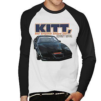 Knight Rider KITT Den ursprungliga Smart Car Men's Baseball Långärmad T-shirt