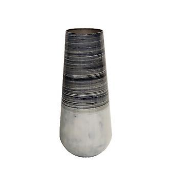 "Vaso in metallo 18""H Alabastron, Multi grigio"