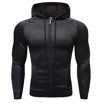 Men's Fitness Sport Jacket Coat Zipper Hooded Running Jackets For Workout