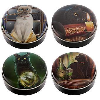 Bálsamo labial divertido em uma lata - lisa parker gatos mágicos 4 fornecidos