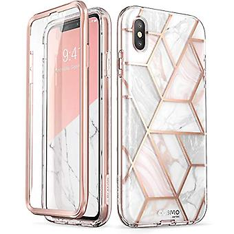 """i-Blason Cosmo Full-Body Case for iPhone Xs/ iPhone X Case 2018 Release, Marble, 5.8"""""""