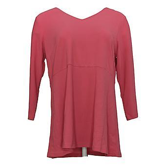 Linea por Louis Dell'Olio Women's Top Moss Crepe c/ Peplum Detail Pink A307191