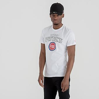New Era Nba Detroit Pistons Team Logo T-paita
