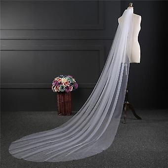 One-layer Long Bridal Head Veil For Wedding
