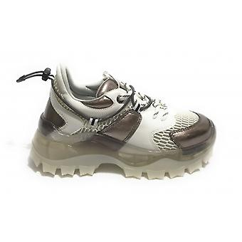 Shoes Woman Gaëlle Chunky Sneakers With White Wedge/ Rifle Barrel D21ge03