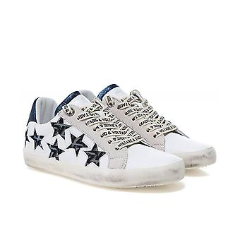 Zadig & Voltaire Zadig Used Star Leather Trainers