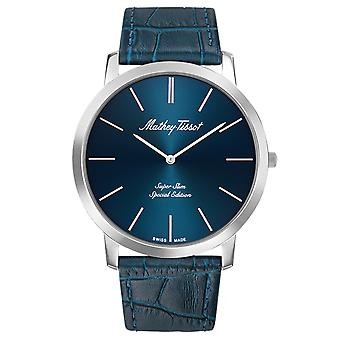 Mathey Tissot Men's Cyrus Blue Dial Watch - H6915ABU